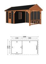 Trendhout | Buitenverblijf Zadeldak Betula L 6300 mm | Combinatie 5