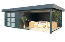 Gardendreams | Outdoor cabins met platdak | Dione | 672 x 400 cm