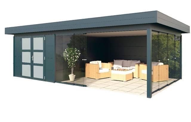 Gardendreams | Outdoor cabins met platdak | Dione | 672 x 400 cm