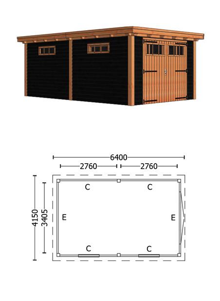 Trendhout   Buitenverblijf Sienna 6400 mm   C5