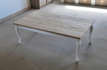 DutchWood | Tafel met krulpoten | 250 x 100