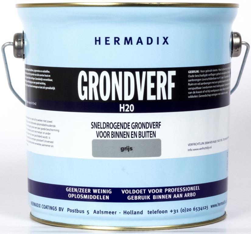 Hermadix Grondverf H20 Grijs 25 L