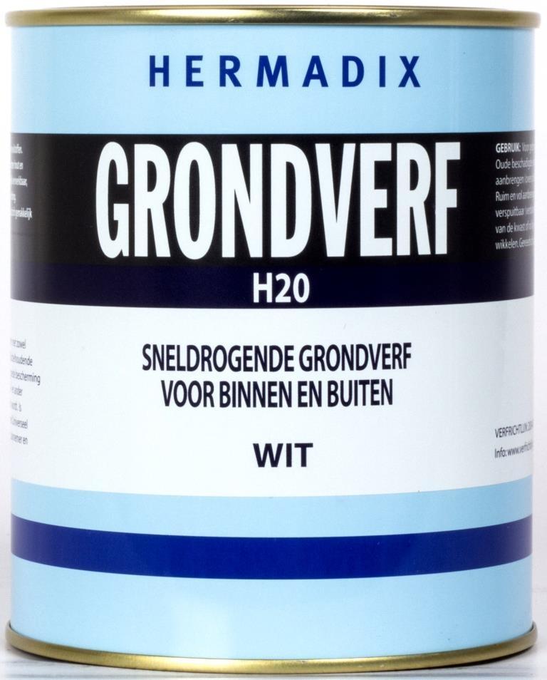 Hermadix Grondverf H20 Wit 750 ml