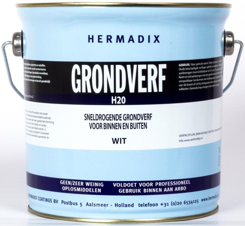 Hermadix Grondverf H20 Wit 25 L
