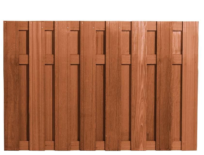 Een duurzame schutting van keruing! specificaties: afmeting (b x h): 180 x 130 cm materiaal: keruinghardhout ...