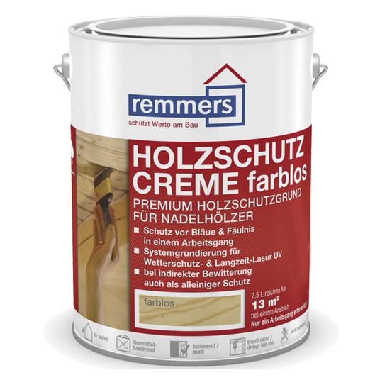 Remmers | Houtbeschermingscrème Kleurloos | 2,5 L
