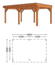 Trendhout | Buitenverblijf Refter XL 6000 mm | Combinatie 1