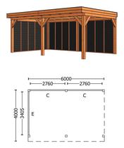 Trendhout | Buitenverblijf Refter XL 6000 mm | Combinatie 2