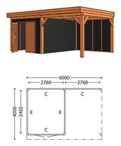 Trendhout | Buitenverblijf Refter XL 6000 mm | Combinatie 4