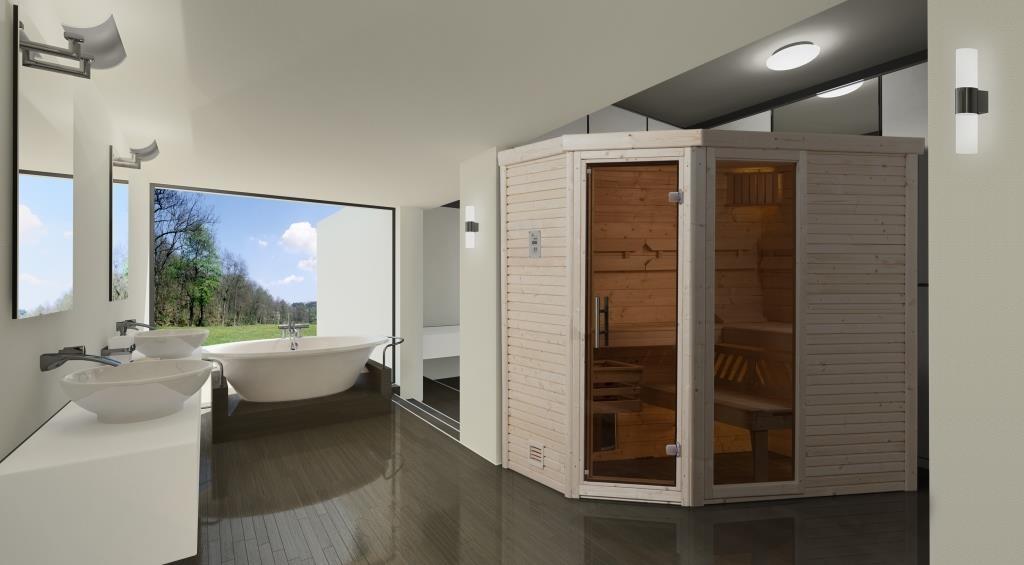 WEKA | Comfort- en designsauna Cubilis hoek 1 OS