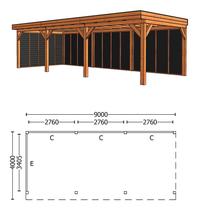 Trendhout | Buitenverblijf Refter XL 9000 mm | Combinatie 2