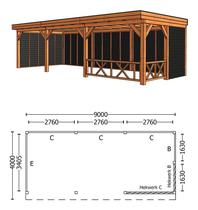 Trendhout | Buitenverblijf Refter XL 9000 mm | Combinatie 3