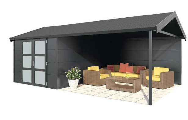 Gardendreams | Outdoor cabins met Zadeldak | Zeus | 672 x 400 cm