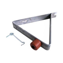 Deurvanger met buffer en windhaak | 240 x 170 mm | Verzinkt