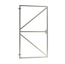 Verstelbaar poortframe met hoge slotkast | 90 x 155 cm | Vuurverzinkt