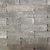 Excluton | Abbeystones 20x5x7 | Grijs/zwart