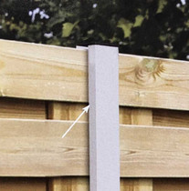Gardival | Aluminium tussenpaal | systeem 49 mm |7x7x270 cm | Zwart