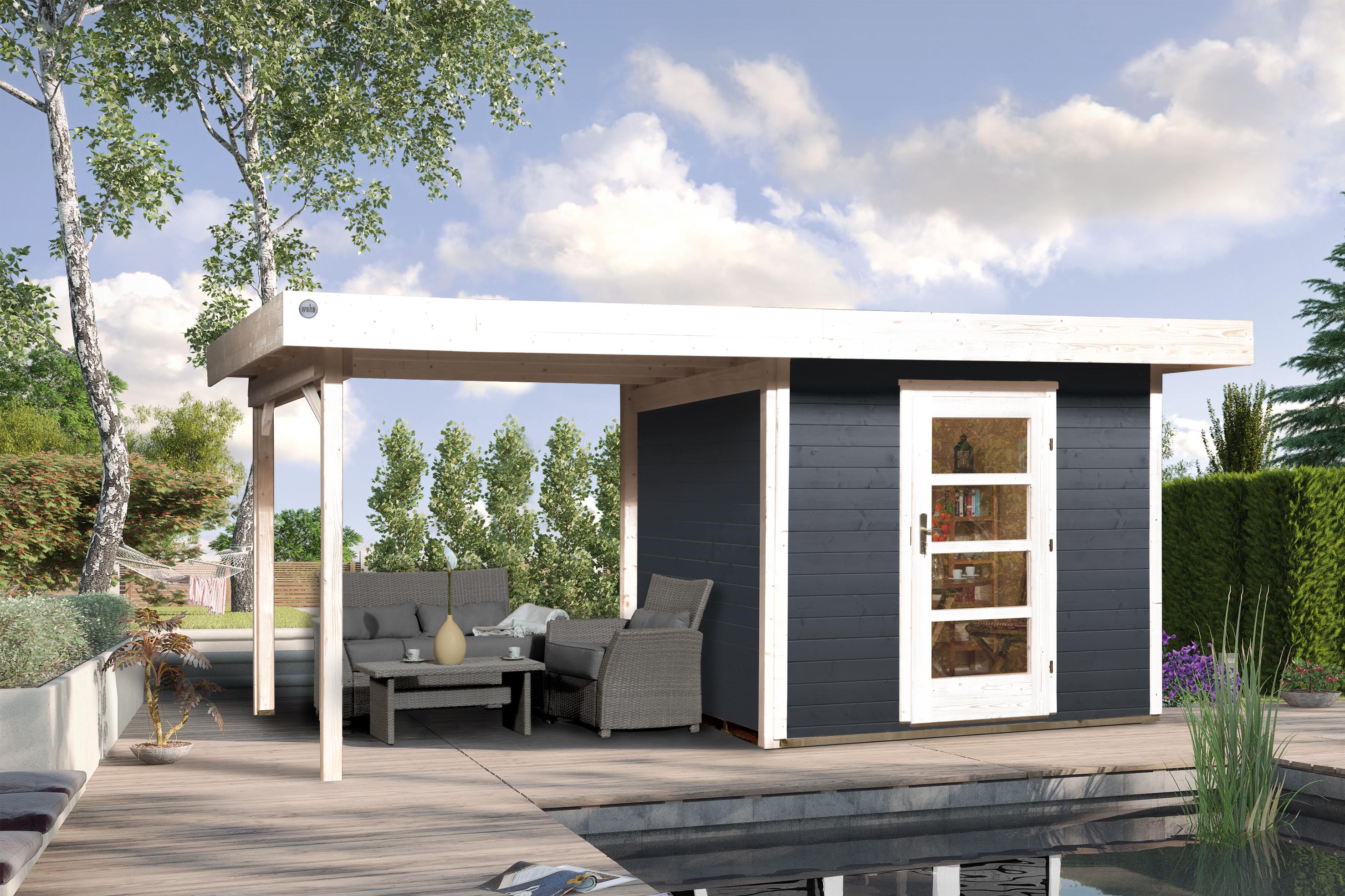 Blokhut | Designhuis 172B Gr.2 | 530 x 300 | WEKA | Antraciet