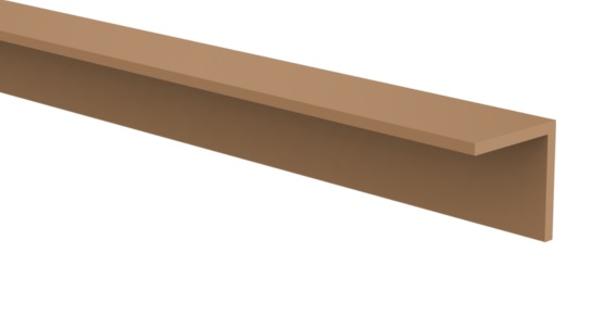 CarpGarant   Hoekprofiel composiet   Bruin   4 x 4 x 300 cm
