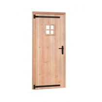 OP = OP Woodvision | Douglas enkele deur met raam | Rechtsdraaiend