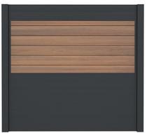 IdeAL | Scherm Antraciet- Symmetry Warm Sienna | 180x200 | 6 planks