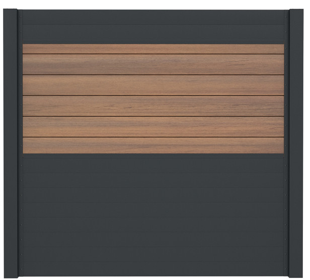 IdeAL | Scherm Antraciet- Symmetry Warm Sienna | 180x180 | 6 planks