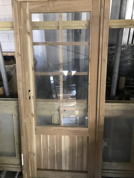 OPRUIMING Woodvision | Glasdeur 8-ruits | Geïmpregneerd groen