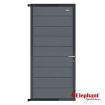 Elephant | Tuindeur Modular | 90x200 cm | Rock Grey/Antraciet