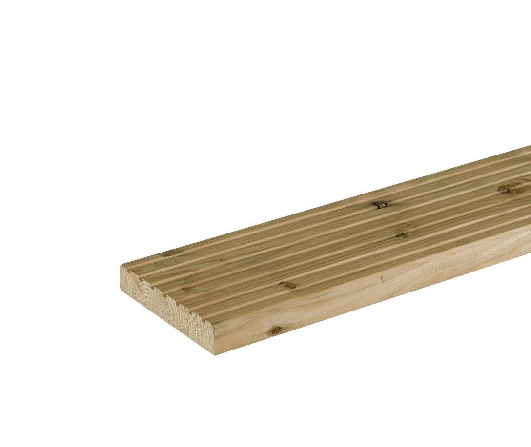 Vlonderplank/ dekdeel Douglas | 25 x 140 mm | Geïmpregneerd | 300 cm