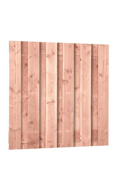 Scherm Douglas Fijnbezaagd | Brede plank | 180 x 180 cm - 11 planken