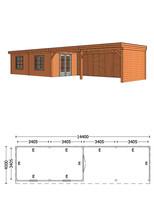 Trendhout | Buitenverblijf Refter XL 14400 mm | Combinatie 5