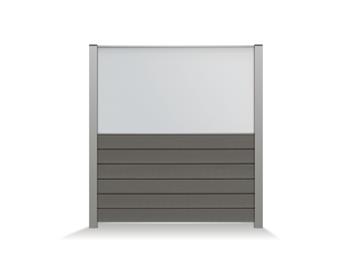 Exterior living | Tuinscherm Curtis 182x182 | Glas 90 cm