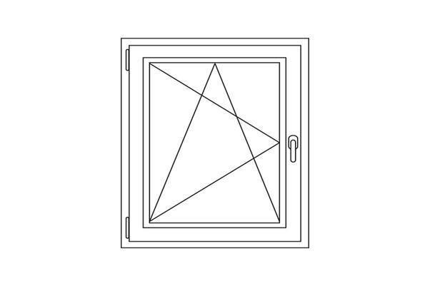 Kunststof draai / kiep raam 60-70 x 70-80 cm