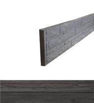 Betonrotsmotief onderplaat | Dubbelzijdig houtmotief | Ongecoat | Antraciet