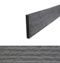 Betonrotsmotief onderplaat | Dubbelzijdig steenmotief | Ongecoat | Antraciet