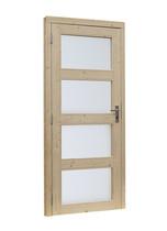 OP=OP Woodvision | Glasdeur 4-ruits | Linksdraaiend | Groen geïmpregneerd
