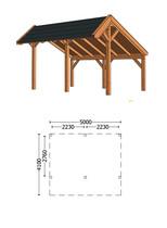 Trendhout | Kapschuur De Heerd 5m | Combinatie 1