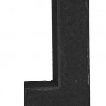 Excluton | Linia hoek palissade 15x30x60 | Nero