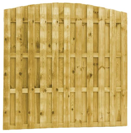 Tooglamellenscherm Grenen | 21-planks | 180 x 180 cm