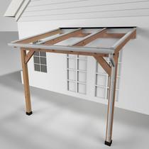 Westwood | Douglas terrasoverkapping | Comfort + | Helder | Wit | 306x250 | Muuraanbouw