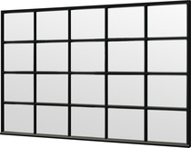 Trendhout | Steel Look raam module E-04 | 340.5x220 cm