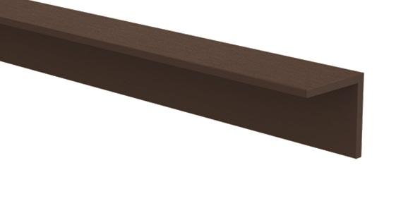 CarpGarant   Hoekprofiel composiet   Donker bruin   4 x 4 x 300 cm