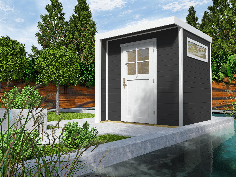 Designhuis 262 | 209 x 205 | Antraciet | WEKA