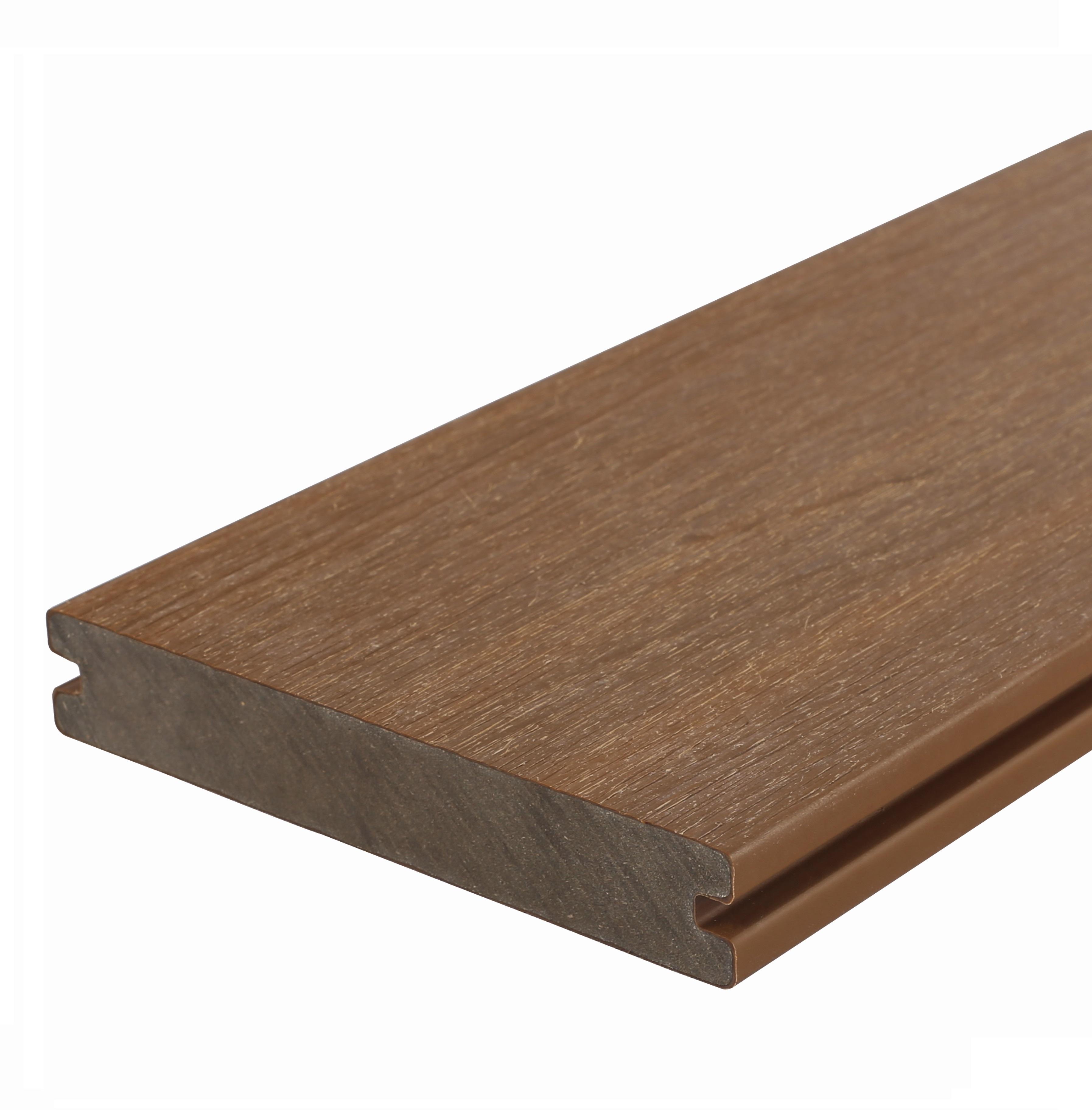 Composiet vlonderplank | Massief | 23 x 138 mm | Teak | 400 cm