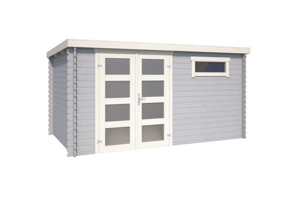 Westwood | Blokhut Alpha 230 | Platinum Grey | 400x250 cm