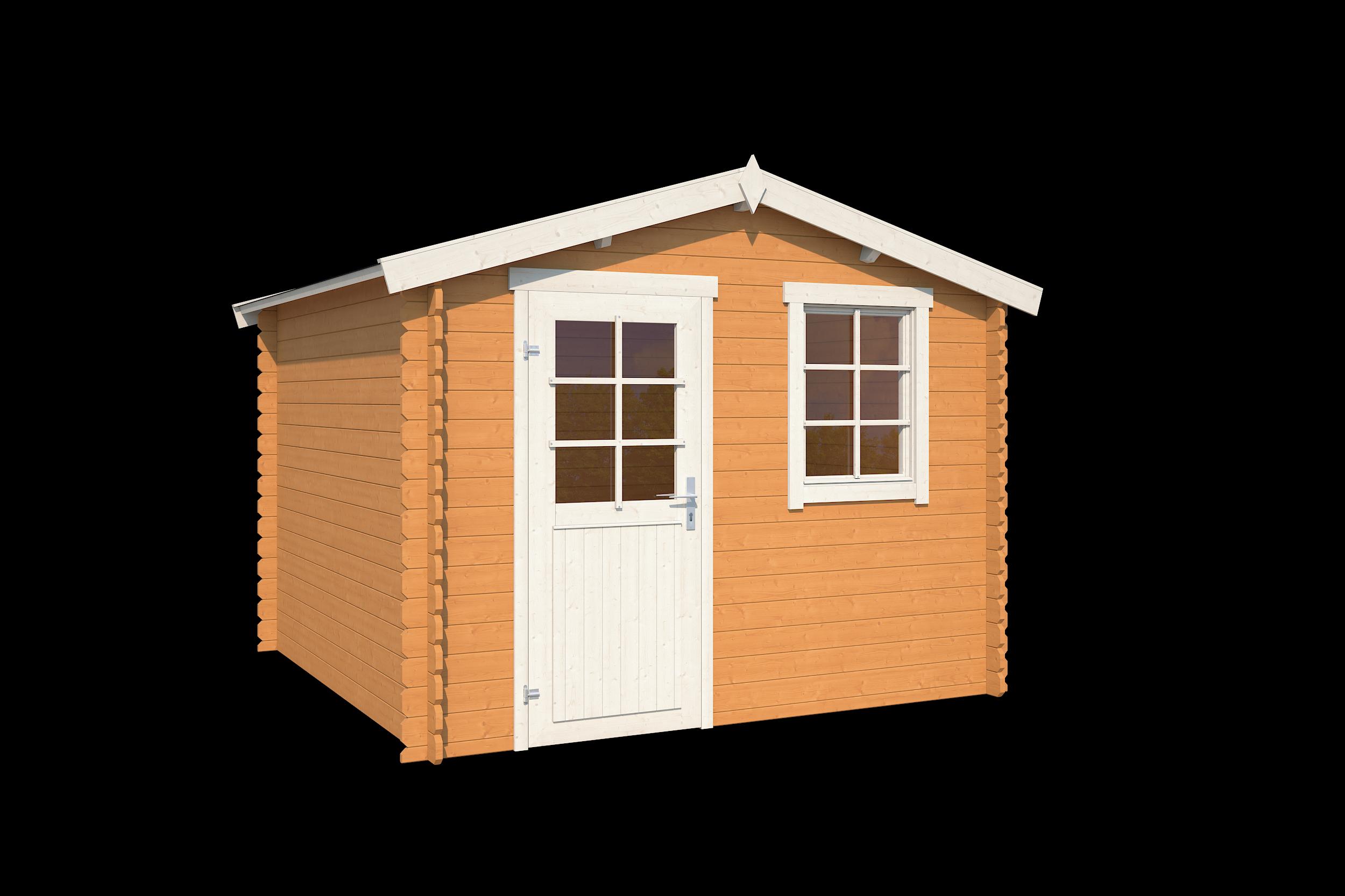 Outdoor Life Products | Blokhut Nina 275 | Dark Oak | 295x295