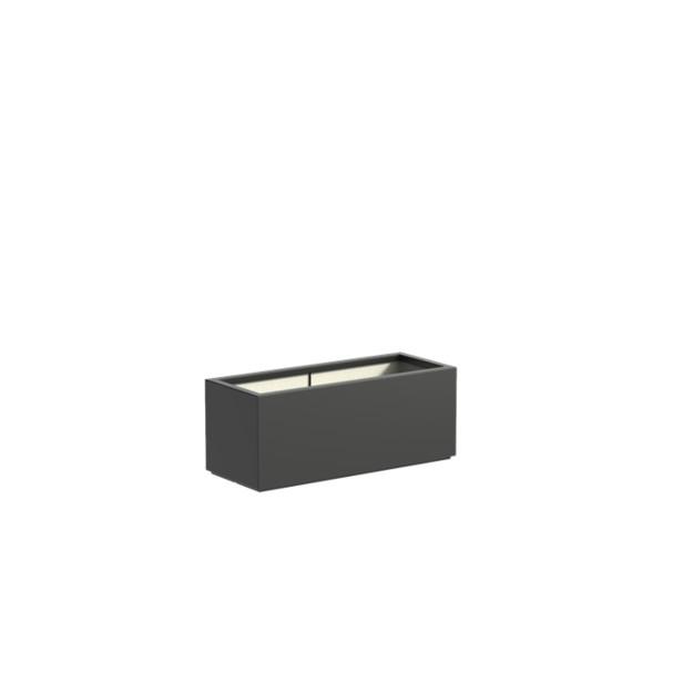 Adezz | Polyester bloembak Buxus | 100 x 40 x 40 | Antraciet