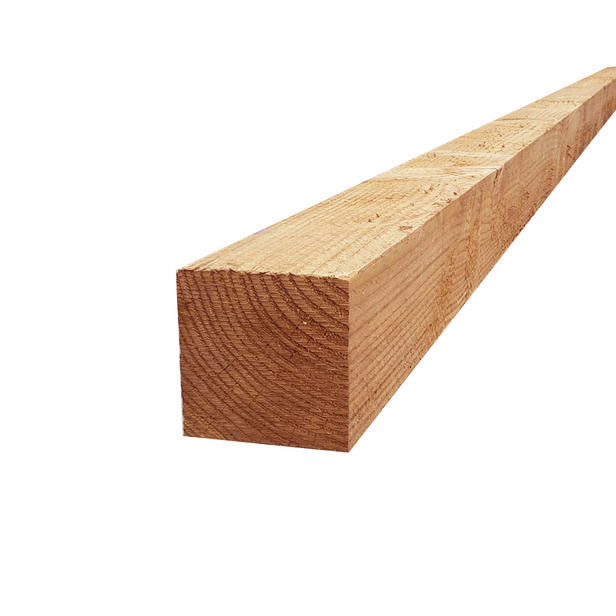 Douglas paal | 50 x 50 mm | Fijnbezaagd | 350 cm
