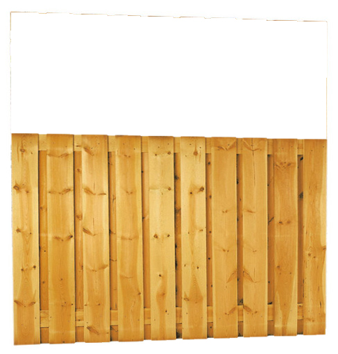 Grenen plankenscherm   21-planks   180 x 130 cm