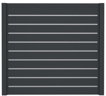 SeriAL | Aluminium Scherm Antraciet decoprofiel | 180 x 180